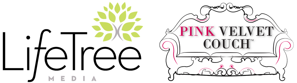 LifeTree Media and Pink Velvet Couch